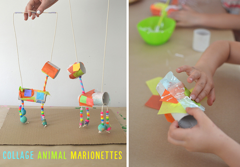 Turn TP rolls and beads into the cutest animal marionettes!