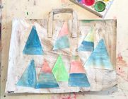 Paper Bag Collage Art