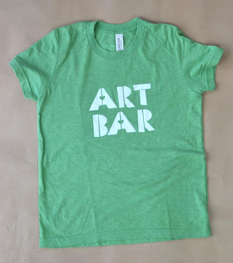 Art Bar children's t-shirt in green