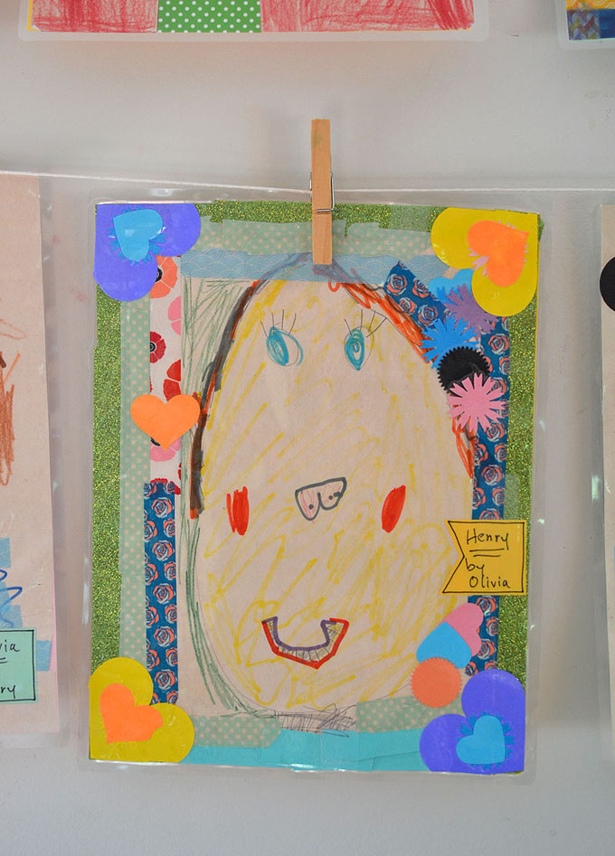 Children draw each other as a way to make new friends and make new connections.