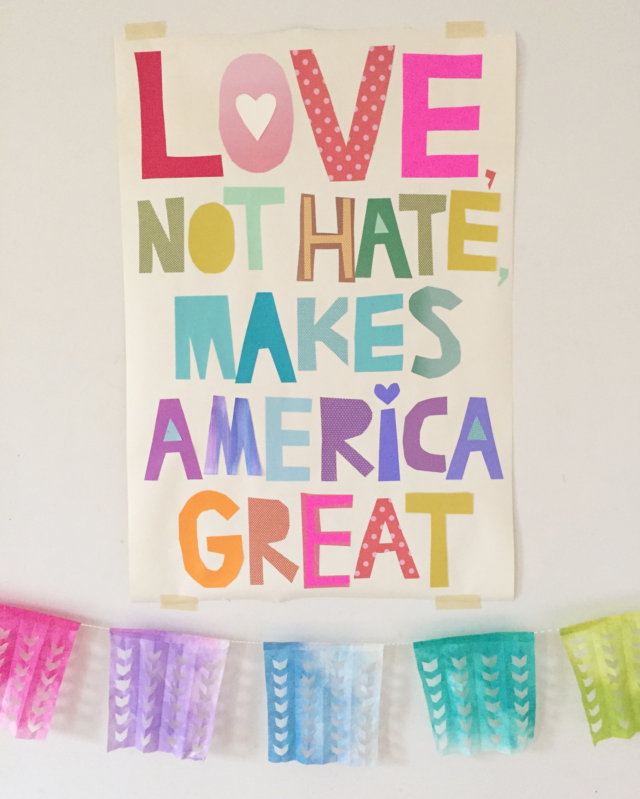 Love, not hate, makes America great // free downloadable poster