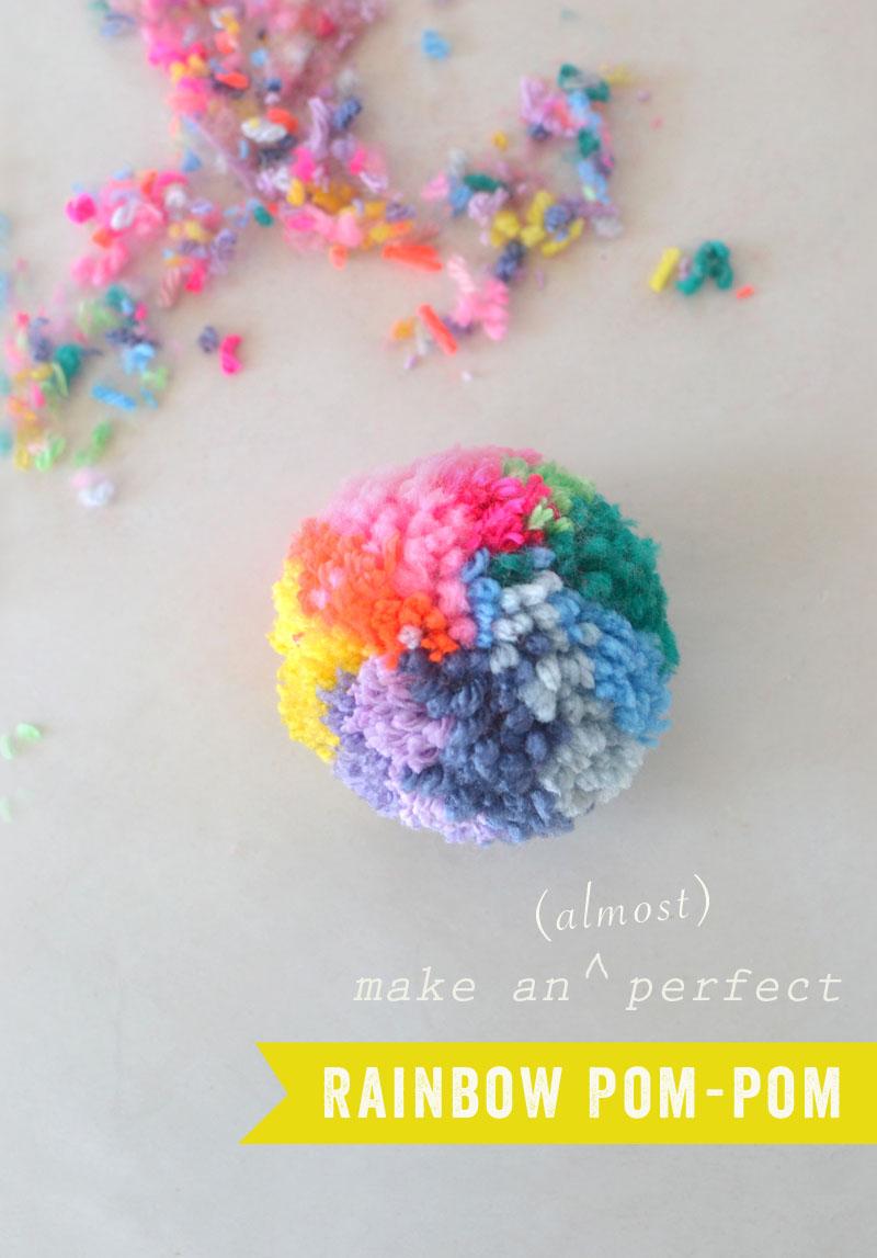 Rainbow Pom-Pom DIY
