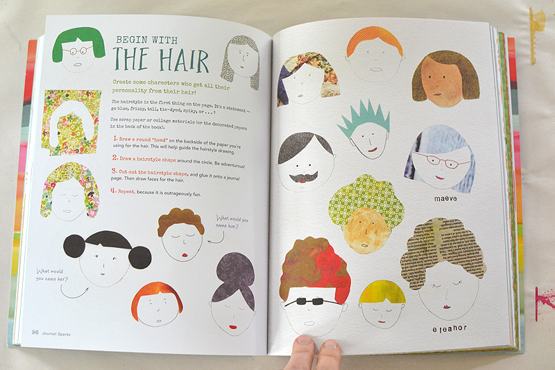 Start an art journal with easy art prompts from the book Journal Sparks by Emily Neuburger