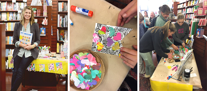 Art Workshop for Children book tour comes to Elm Street Books in New Canaan, CT.