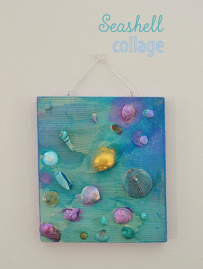 Seashell Collage with Kids