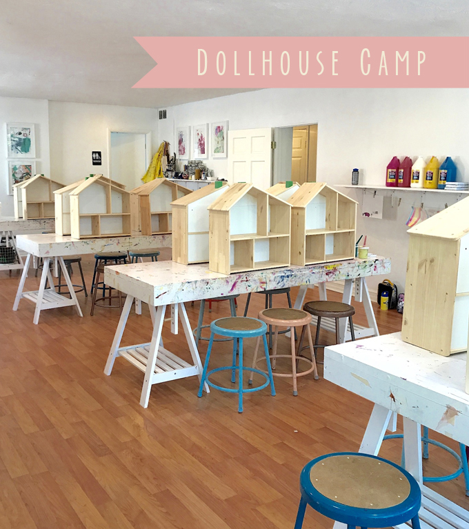 DollhousecCamp for kids! In this first part, the kids paint IKEA wooden dollhouses and make floor plans. Coming up in Part 2: handmade wallpaper and furniture!