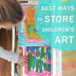 Three tried-and-true ways to sort and store all of that art that your child makes.