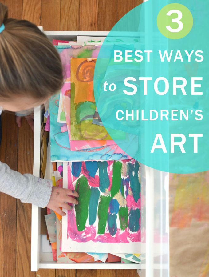 Three Best Ways to Store your Child's Art