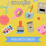 Artsy Emojis - a sticker app designed by Barbara Rucci of Art Bar Blog. Available now on the App Store.