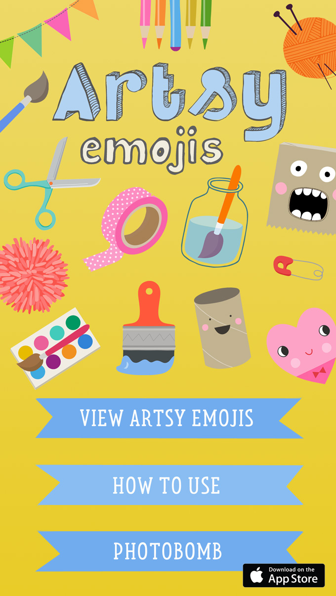 Artsy Emojis The Sticker App For People