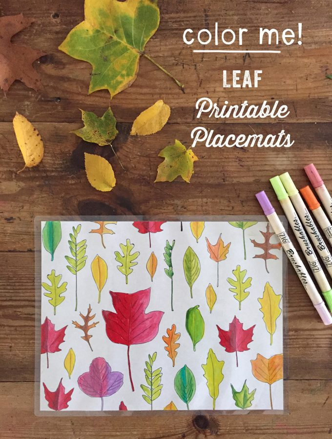 Leaf Printable Placemats