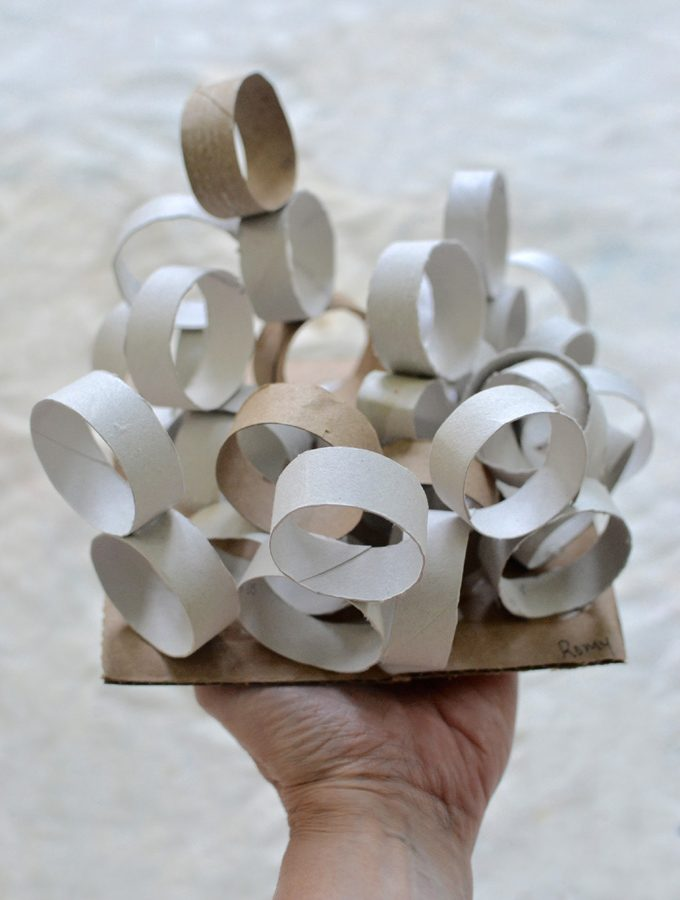 Cardboard Tube Sculptures