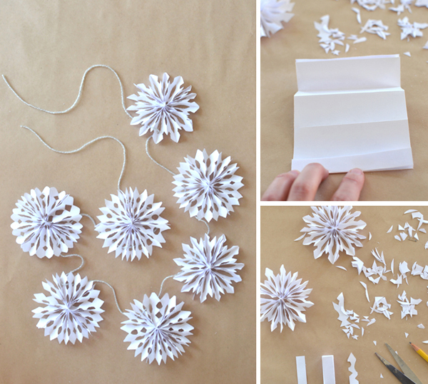 3D-snowflakes from paper.