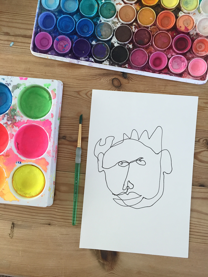 This drawing prompt will have kids laughing while creating the most exquisite abstract portraits.