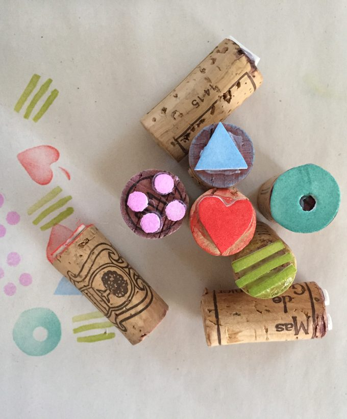 Simple Wine Cork Stamps