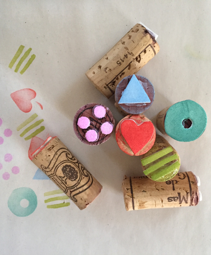 Simple Wine Cork Stamps - ARTBAR