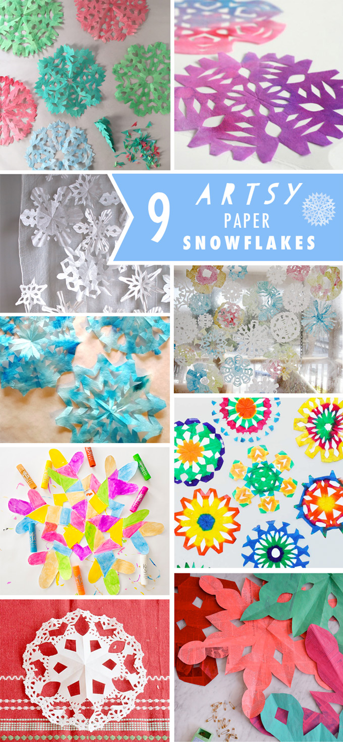 Here are 9 artsy ways to make paper snowflakes!