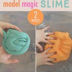 "Mixing slime with Model Magic or Japanese Daiso clay makes for a thicker ""butter"" slime that is SO fun to play with."