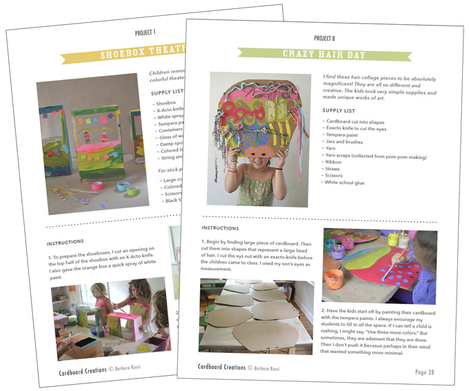 Cardboard Creations by Barbara Rucci