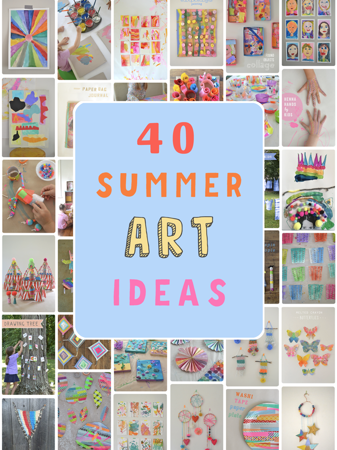 40 Summer Art Ideas For Kids Artbar
