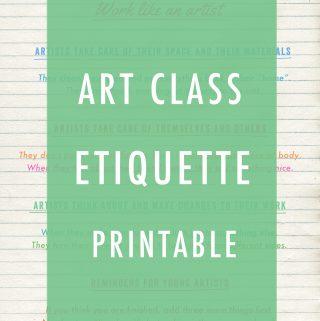 Art Class Etiquette Printable Image