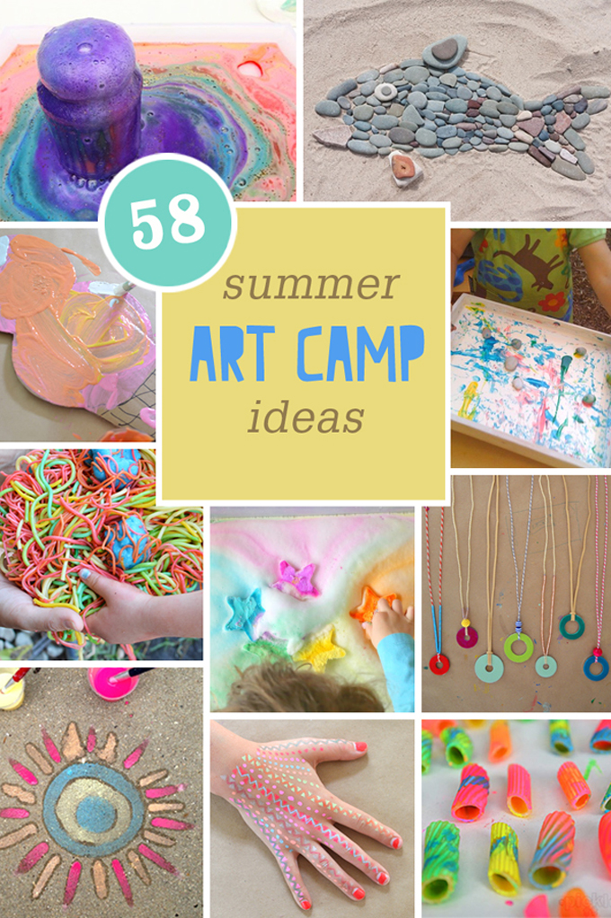 58 Summer Art Camp ideas for kids.