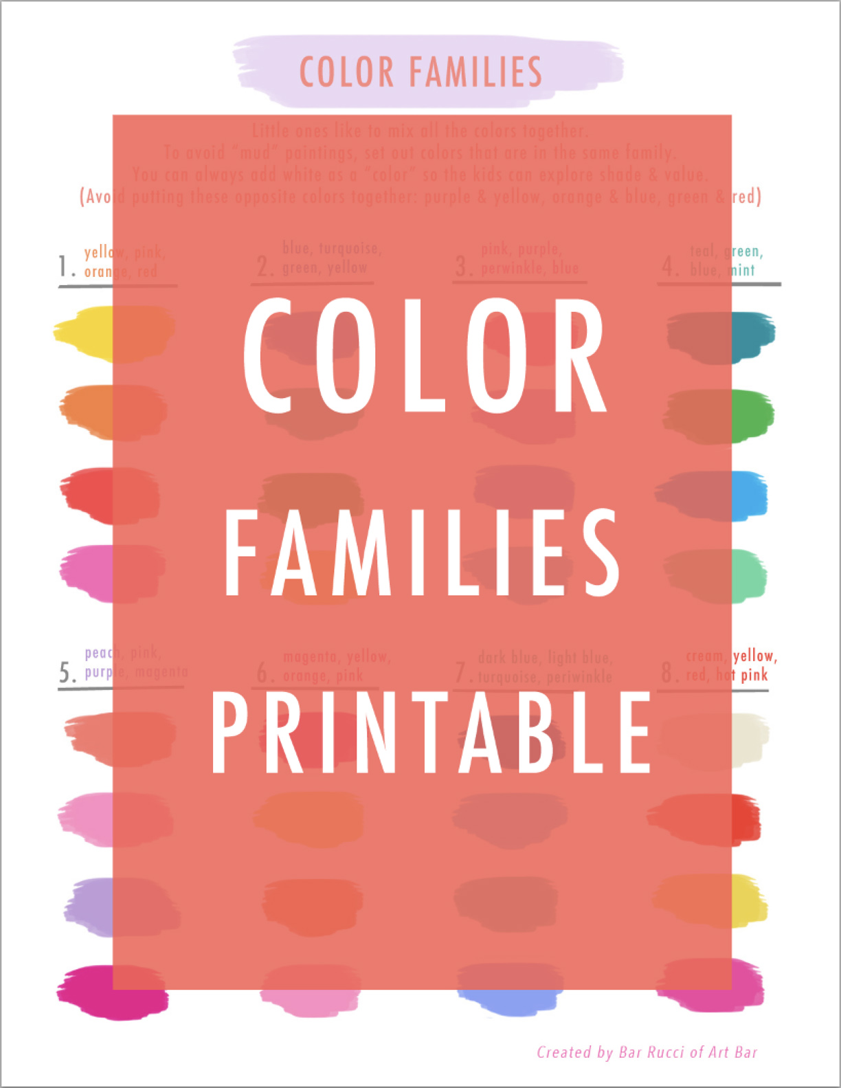 graphic about Printable Colors identify Colour Households Printable