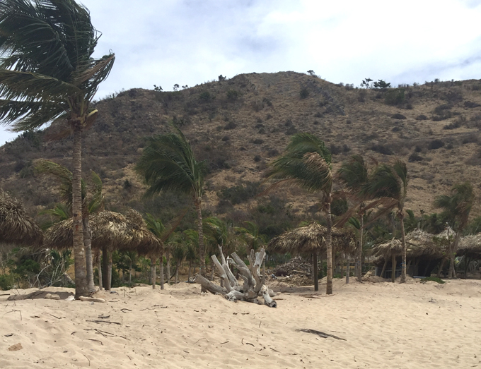 Guanahani beach St. Barth's after hurricane Erma, 2017.