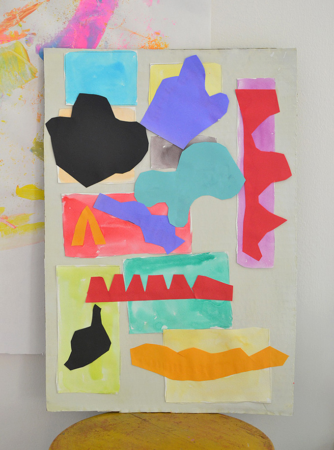 Kids study Henri Matisse and make these stunning collages with paper.