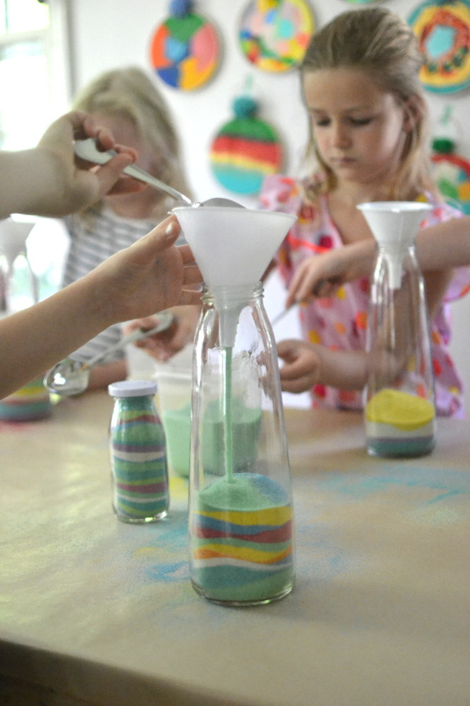 Sand Art Bottles With Diy Dyed Sand From The Beach Artbar