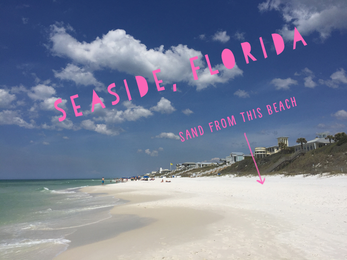 DIY dyed sand from the beaches of Seaside, Florida.