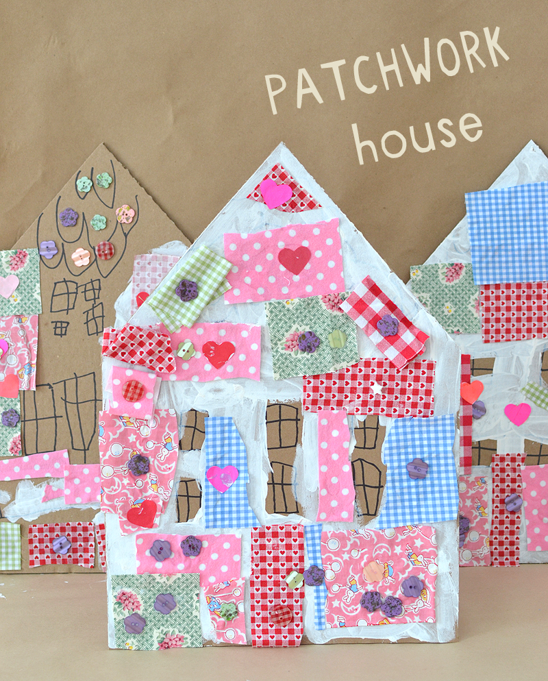 Patchwork Houses would make a great DIY craft kit.