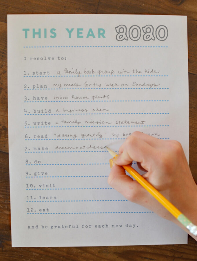 My Resolutions This Year Printable