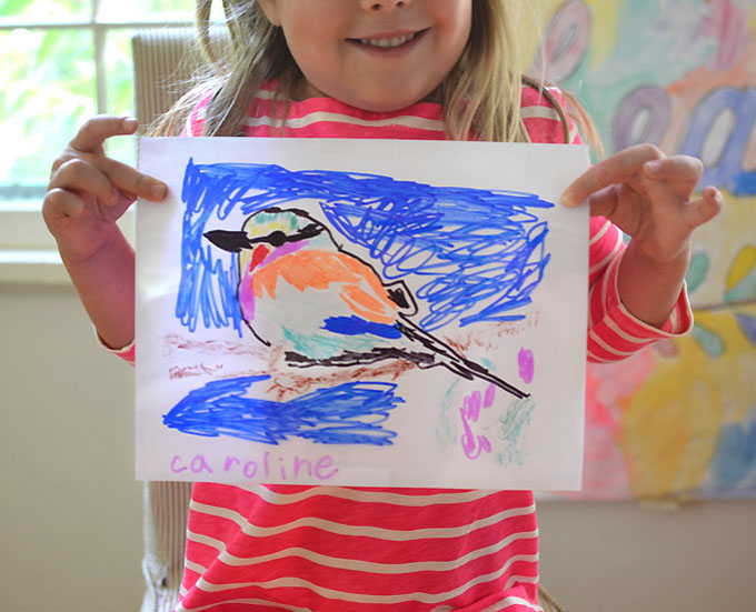 Kids love tracing animals using transparency film and sharpies.