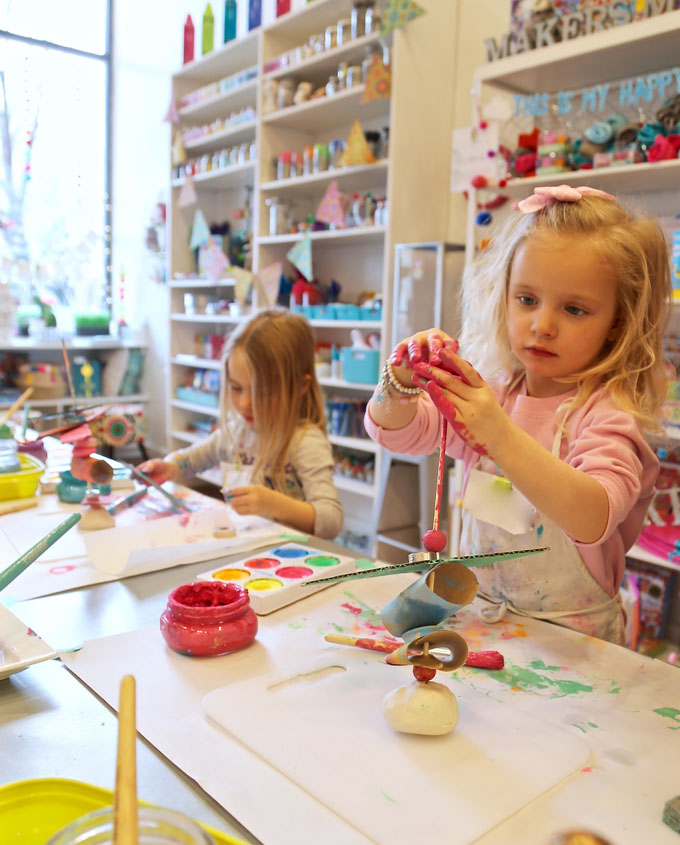 Kids use cardboard, beads, and clay to make stacked sculptures. A perfect process art experience that is great for toddlers through elementary age, and works both hand eye coordination and fine motor skills.