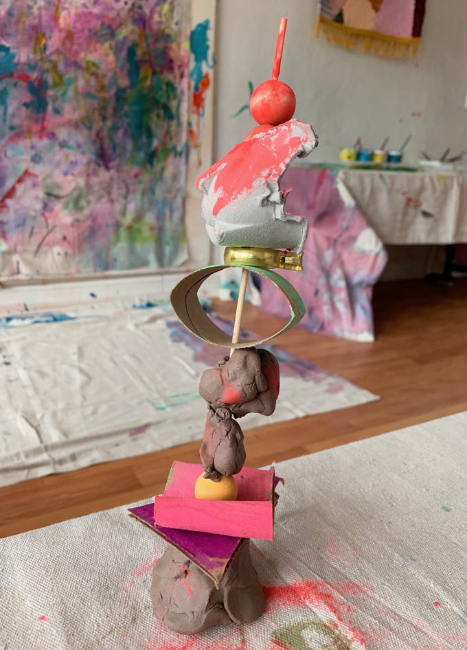 Allow the clay to harden and dry, and display your child's super special sculpture in a prominent place at home! Invite kids to revisit and recreate their sculpture as many times as they'd like. This is a perfect opportunity to practice arranging and iterating (trying an idea over and over again to make changes).