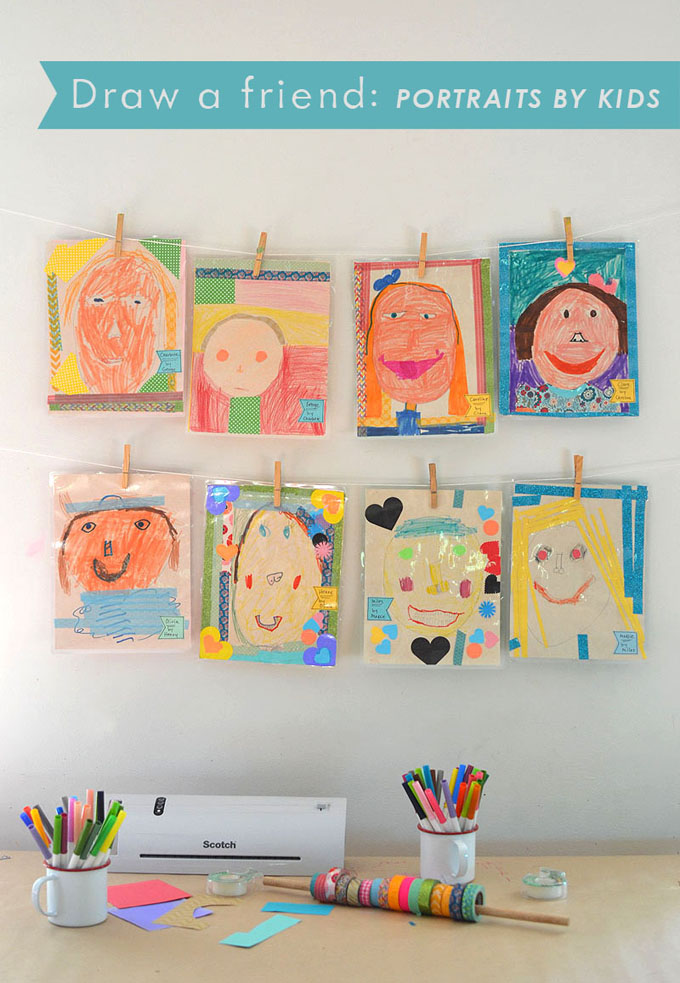 Children draw portraits of each other, inspired by the book The Name Jar, and then use the Scotch™️ Thermal Laminator to make their portraits everlasting