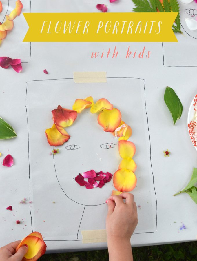 """Face the Foliage"" Inspired Flower Portraits with Kids"