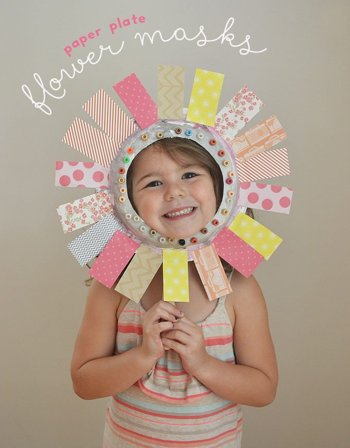 Paper Plate Flower Masks