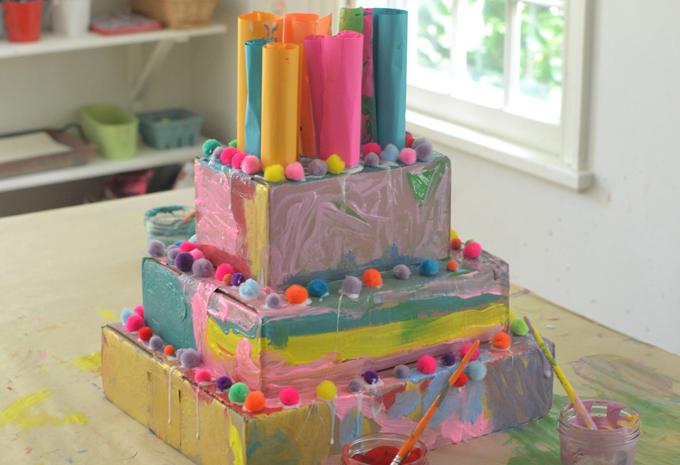 cardboard cake