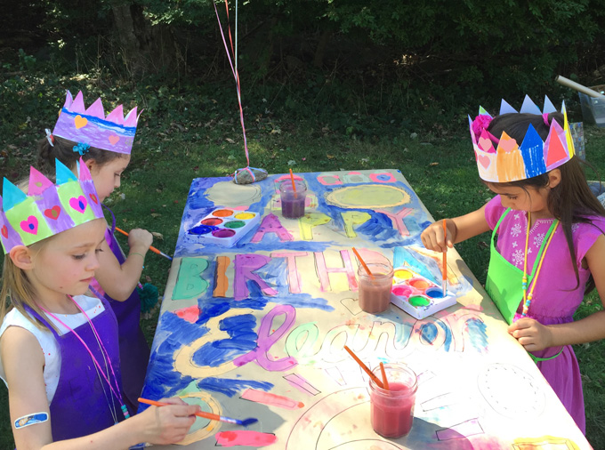Paper crowns are a great craft for kids' birthday parties!