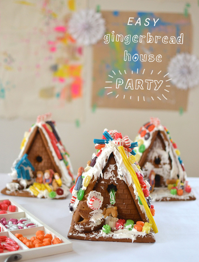 Host a gingerbread house making party for your kids and their friends this Holiday season!