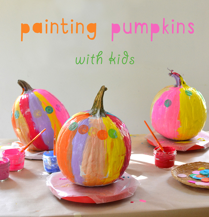Use this one trick to get kids to paint the most vibrant pumpkins.