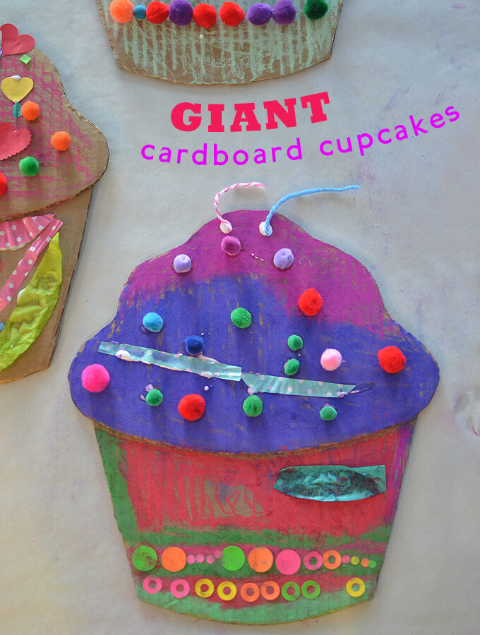 Cardboard Cupcakes inspired by Wayne Thiebauld