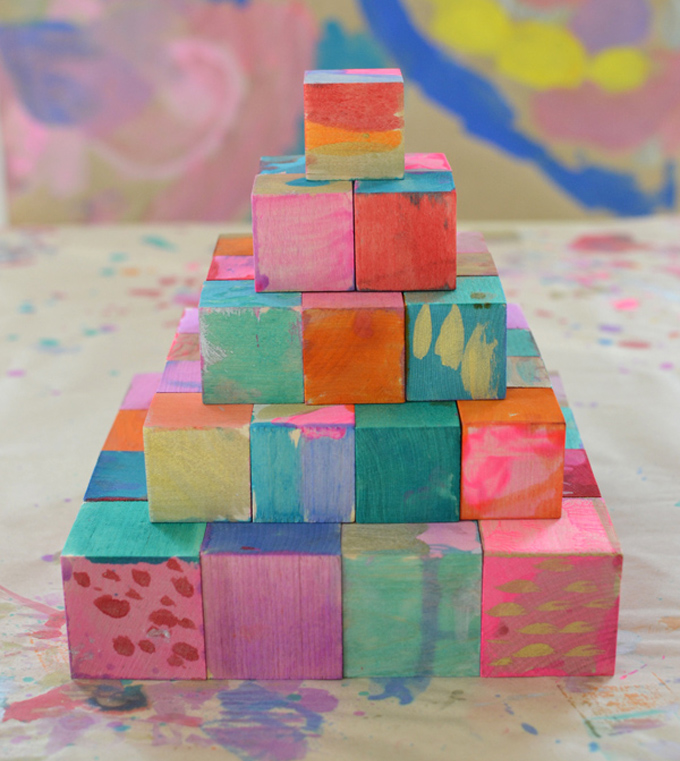 painted blocks