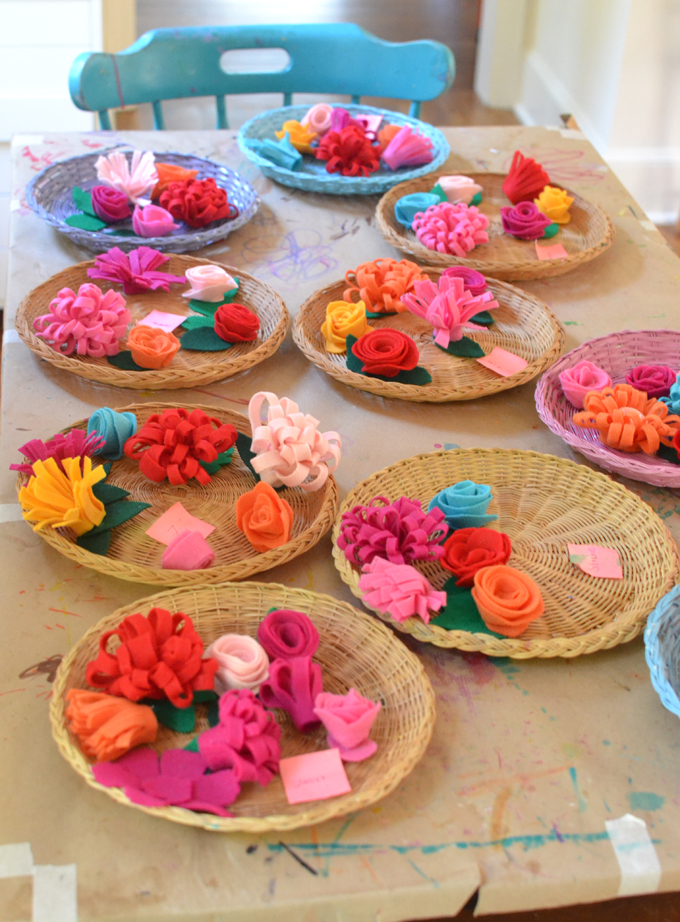 Make Frida Kahlo flower crowns from felt and a headband.