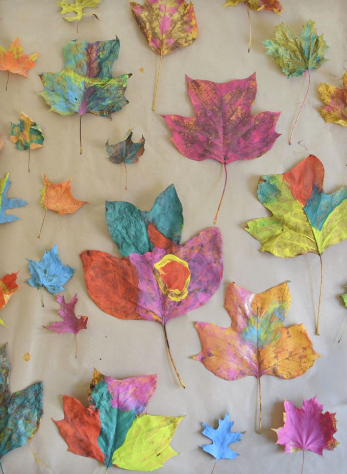 Leaf Painting with Kids