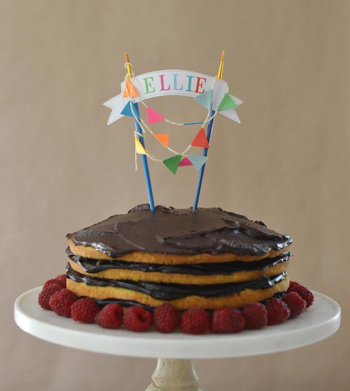 DIY Artsy Cake Topper