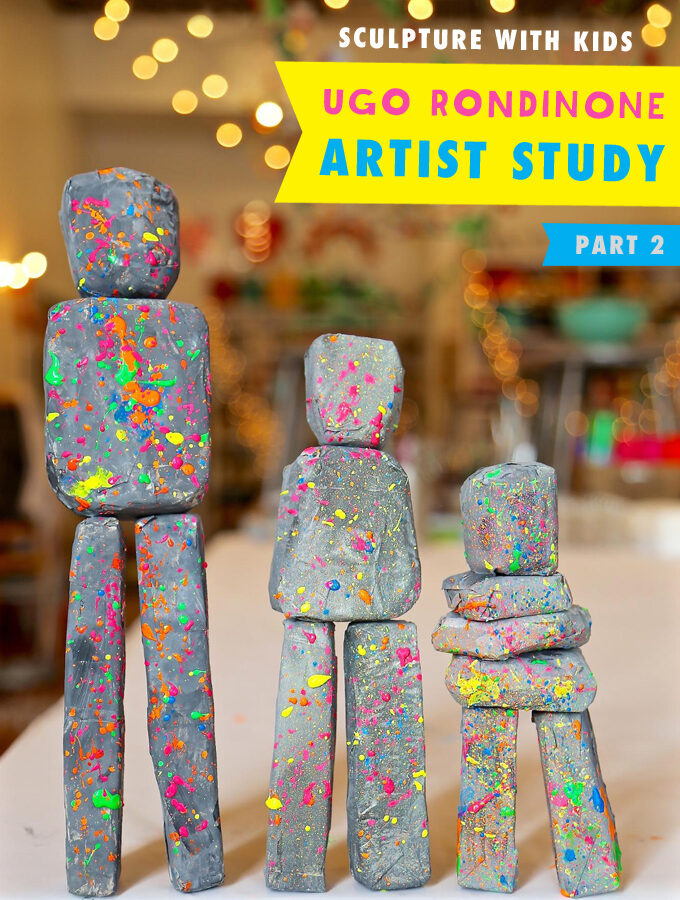 Sculpture with Kids: Ugo Rondinone Artist Study (Part 2)