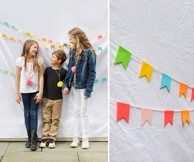 DIY Rainbow Garland Backdrop